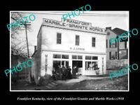OLD LARGE HISTORIC PHOTO OF FRANKFORT KENTUCKY THE GRANITE & MARBLE WORKS c1930