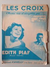 PARTITION EDITH PIAF LES CROIX
