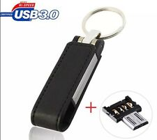128GB High-end leather OTG Micro USB 3.0 Flash Memory Drive Stick Pen Thumb U Di