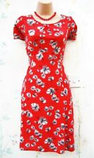 Size 18 Vintage 30s 40s Style Red Pansy Floral Summer Tea Dress ~ US 14 EU 46