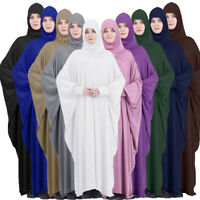 Muslim Women Prayer Dress Abaya Hijab Jilbab Farasha Overhead Kaftan Islamic New