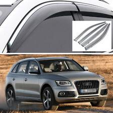 4x Car Window Vent Visor Deflector Shade Sun/Rain Guards for Audi Q5 2009-2017