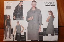 Vogue Wardrobe Pattern #2195 Size 18-20-22, Jacket, Top, Dress, Skirt, pants