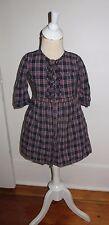 Brooks Brothers Fleece plaid Shirt Dress  Short Sleeve Size 5