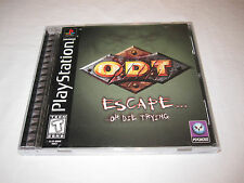 O.D.T. Escape or Die Trying (PlayStation PS1) Black Label Game Complete Vr Nice!