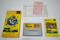 SUPER MARIO WORLD Nintendo Super Famicom SNES Japan Box Manual