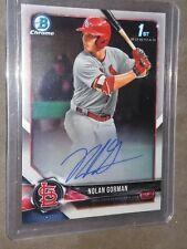 Nolan Gorman 2018 Bowman Chrome Certified Auto Card St. Louis Cardinals