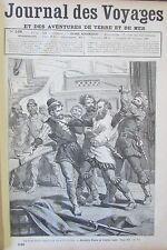 Zeitung der Voyages Nr. 546 von 1887 Expedition Mendez Pinto Cordillera Andes