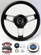 """1967 Ford pickup steering wheel BLUE OVAL 13 3/4"""" custom steering wheel"""