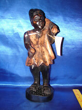 """Vintage African Hand Carved Wood Figure   Man Carved in Ghana 14"""" tall."""