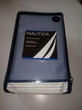 Nautica King Dust Ruffle Blue Bed Skirt