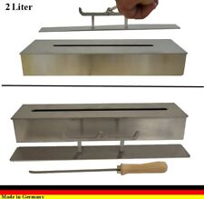 2 liters Ethanolburner Stainless steel for gel and ethanol fireplaces adjustable