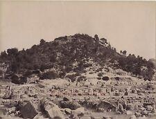 Grèce Greece Ruine d'Olympie Olympia Vintage albumine ca 1880