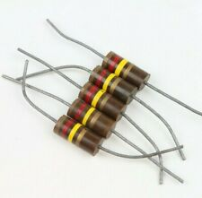 Lot of 5 Vintage 120K Ohm 2 Watt 5% Carbon Comp Axial Resistor NOS (Qty Avail)
