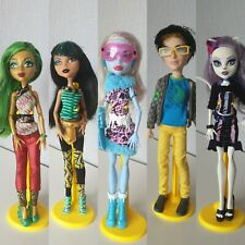 Monsters High Dolls Jinfire long Jackson Jekill Abbie Bominable Cleo de Nile + 1