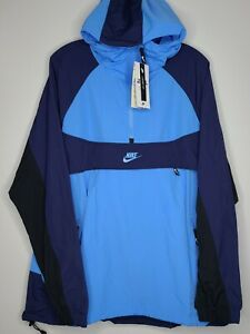 Nike Sportswear NSW Pullover Hooded Blue Jacket Mens Medium BV5385-412 - NWT