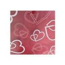 Valentine's Day Flower Gift Wrap Clear Cellophane with White Hearts - 100 Sheets