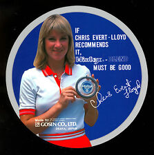 1980'S CHRIS EVERT LLOYD Tennis star VINTAGE unused DECAL STICKER MADE IN JAPAN