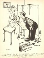 Sexy Babe at Doctors Office - Humorama 1951 art by Reamer Keller