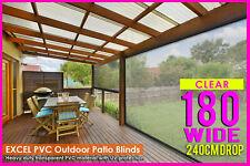 180cm X 240cm Heavy Duty PVC Clear Patio Cafe Blind Outdoor UV Protect
