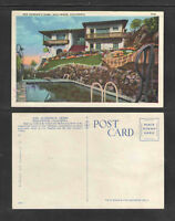 1940s ANN HARDINGS HOME HOLLYWOOD CALIFORNIA POSTCARD