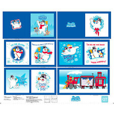 Frosty The Snowman Cloth Book Panel cotton quilt fabric Quilting Treasure