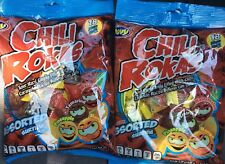 2 packages Chili Rokas Mexican Sour Hard Candy Filled W/Chili assorted 5.07 OZ