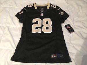 New Orleans stitched Mark Ingram #28 Black Saints Nike Jersey Womens M medium