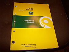 John Deere 730 Air Disk Drill Operator's Manual