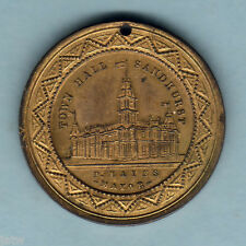 New listing Australia. 1887 Sandhurst Vic. Victoria Jubilee, Medallion. 31mm Gilt. aU/Unc