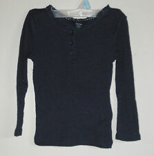 New babyGAP Size 12-18 Months New Navy Blue Henley Long Sleeves Tops ~ Shirt