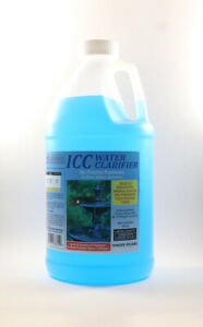 ICC Ionic Copper water clarifier, bacteria, algae, fungicide. 10,000 PPM,  64oz.