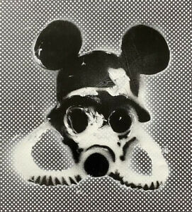 Banksy—Apocalyptic Mickey Mouse - Original Work Signed W/ COA-MynBender