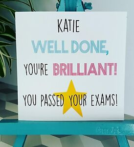 PERSONALISED Handmade Congratulations  You've Passed Exams Gcse A level Card