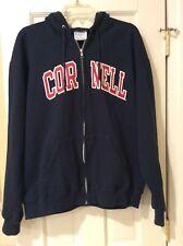 Cornell Black Big Red Full Zip Embroidered Champion Hoodie Sweatshirt Size L USA