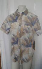 NEW Huntington L Men's Multi-Color Hawaiian Short Sleeve Button Down Shirt Large