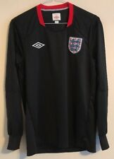 England football training shirt size S black colour long sleeves Umbro