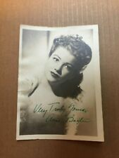 Anne Baxter Rare Very Early Original Autographed Photo '42 Magnificent Ambersons