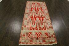 Traditional Vintage Wool 242 X 102 CM Handmade Rugs Oriental Rug Carpet