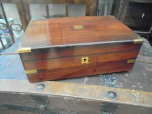 Antique Rosewood Writing Box. Good Condition But Could Be Renovated Further.