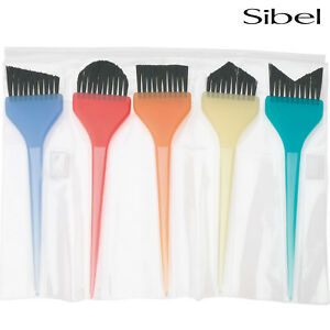 Sibel 5 x Tinting Brush Set + Carry Wallet For Hair Dying/Colouring & Balayage