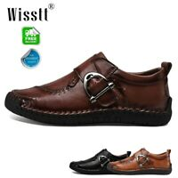 Men's Oxfords Leather Casual Shoes Breathable Driving Loafers Slip On Moccasins