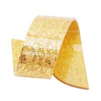 Golden Napkin Rings Handmade Metallic Glass Beaded Holders G
