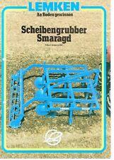 Lemken Scheibengrubber Smaragd, orig. Prospekt 1990