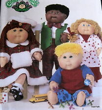 """Cabbage Patch Doll Clothes Pattern B4045 Christmas Caroler Coat muff pj 16"""" 20"""""""