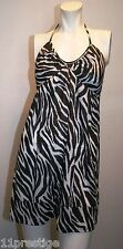 VELVET TORCH HALTER DRESS BLACK&WHITE SIZE M