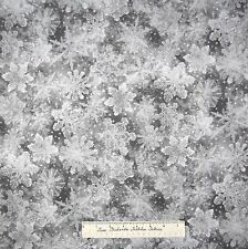 Christmas Fabric - Holiday Accents Silver & Gray Snowflake Toss - RJR YARD
