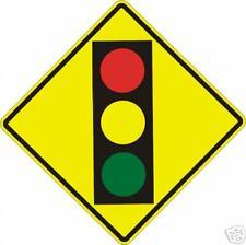 Real Signal Ahead Symbol Street Traffic Sign