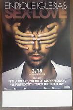Music Poster Promo Enrique Iglesias ~ Sex And Love