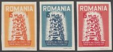 Romania, 1956 Europa IMPERF Anti-communist Propaganda Issue. U/Mint MNH. SCARCE